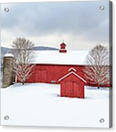 New England Barns Square Acrylic Print