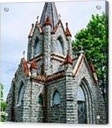 New England Cemetery Mausoleum Acrylic Print