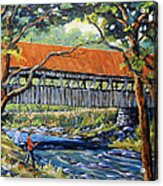 New England Covered Bridge By Prankearts Acrylic Print by Richard T Pranke