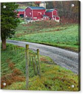 New England Farm Acrylic Print by Bill Wakeley