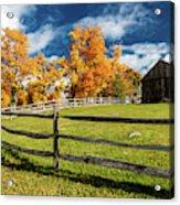 New England Farm With Autumn Sugar Acrylic Print