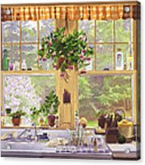 New England Kitchen Window Acrylic Print