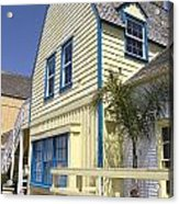 New England Style Building At Fisherman's Village Marina Del Rey Los Angeles Acrylic Print