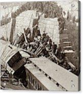 New England Train Wreck Acrylic Print