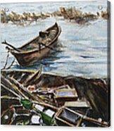 New England Wharf Acrylic Print