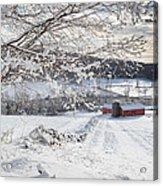 New England Winter Farms Acrylic Print by Bill Wakeley