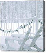 New England Winter Porch Acrylic Print
