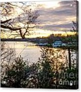 New England Winter Sunset Acrylic Print