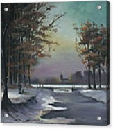 New England Winter Walk Acrylic Print by Cecilia Brendel