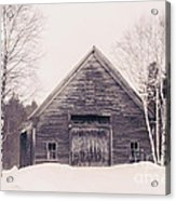 New Hampshire Barn In Black And White Acrylic Print