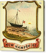 New Hampshire Coat Of Arms - 1876 Acrylic Print
