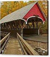 New Hampshire Covered Bridge Acrylic Print