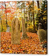 New Hampshire Mountain Cemetery Acrylic Print