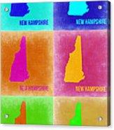 New Hampshire Pop Art Map 2 Acrylic Print