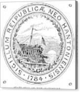 New Hampshire State Seal Acrylic Print