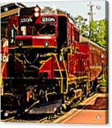 New Hope Ivyland Railroad With Cars Acrylic Print