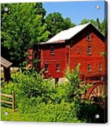 New Hope Mill Acrylic Print by Dave Files