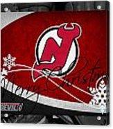 New Jersey Devils Christmas Acrylic Print