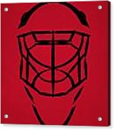 New Jersey Devils Goalie Mask Acrylic Print