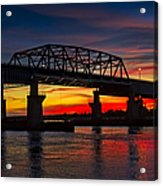 New Jersey Meadowlands Sunset Acrylic Print