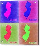New Jersey Pop Art Map 2 Acrylic Print