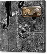 New Lock On Old Door 1 Acrylic Print