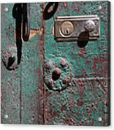 New Lock On Old Door 3 Acrylic Print