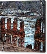 New Manchester Manufacturing Company Ruins Acrylic Print