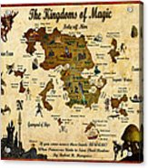 New Map Of The Kingdoms Of Magic Acrylic Print