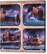 New Mexico Churches In Snow Acrylic Print