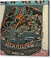 New Mexico Crescit Eundo Acrylic Print
