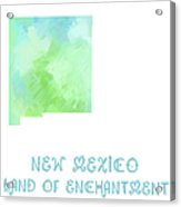 New Mexico - Land Of Enchantment - Map - State Phrase - Geology Acrylic Print