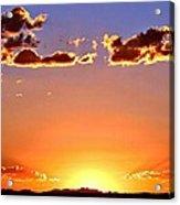 New Mexico Sunset Glow Acrylic Print