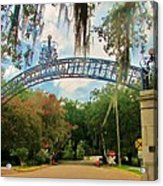 New Orleans City Park - Pizzati Gate Entrance Acrylic Print