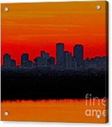 New Orleans City Sunset Acrylic Print