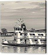 New Orleans Ferry Bw Acrylic Print