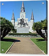 New Orleans - Jackson's Square Acrylic Print