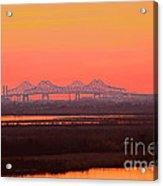 New Orleans Mississippi Bridge Acrylic Print