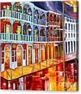 New Orleans Reflections In Red Acrylic Print