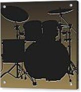 New Orleans Saints Drum Set Acrylic Print