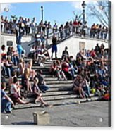 New Orleans - Street Performers - 12121 Acrylic Print