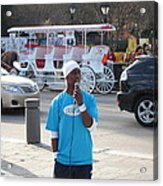 New Orleans - Street Performers - 12128 Acrylic Print