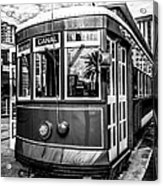 New Orleans Streetcar Black And White Picture Acrylic Print