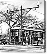New Orleans Streetcar Silhouette Acrylic Print