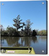 New Orleans - Swamp Boat Ride - 121235 Acrylic Print