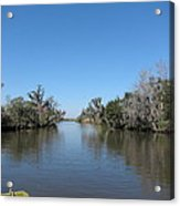 New Orleans - Swamp Boat Ride - 121243 Acrylic Print