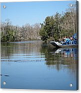 New Orleans - Swamp Boat Ride - 121289 Acrylic Print