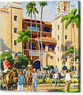 New Paddock At Del Mar Acrylic Print