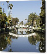 New Photographic Art Print For Sale Canals Of Venice California Acrylic Print