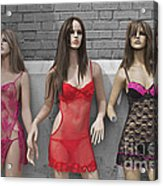 Sex Sells Mannequins In Lingerie In Downtown Los Angeles  Acrylic Print